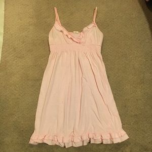 VS pink white stripe cover up dress